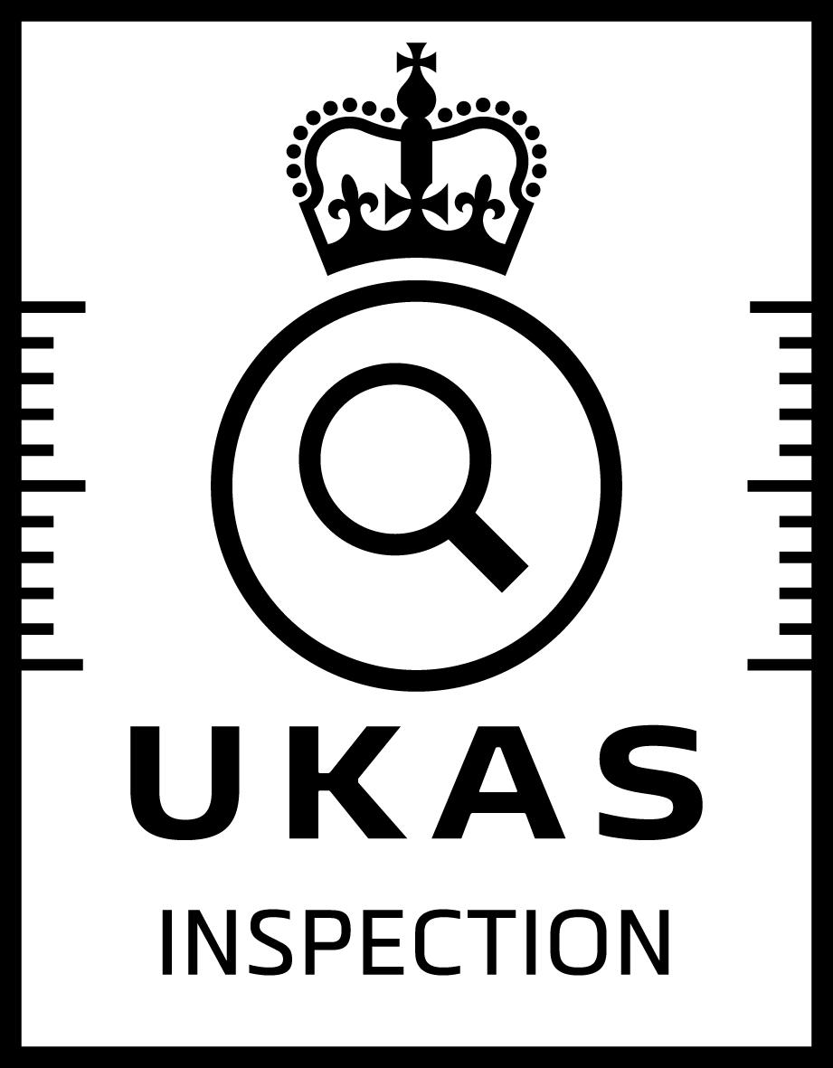 UKAS Accreditation Symbol - black on white - Inspection